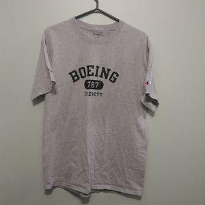 2/20$ Champion mens athletic Boeing shirt